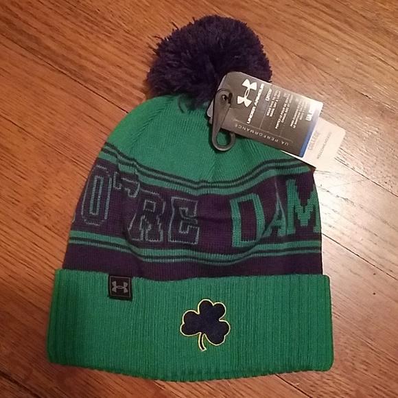 3bfb20c9b31 NWT UA Notre Dame Cold Gear Beanie